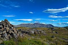 cécile islande 2017 110 (sebastien.demotier) Tags: islande iceland island 2017 green blue volcano stone sky ciel bleu vert grass