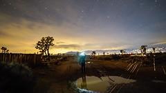Night Lights. (Ryan Hallock) Tags: ryanhallock cool ok color sky outside outdoors gorgeous nightlights reflection blackdiamond light beauty longexposure california desert yuccavalley clouds night stars mojave rokinon a7r sony