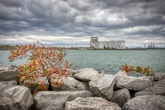 Cargill Pool Elevator (yellocoyote) Tags: abandon abandoned america americana autumn buffalo cargill chop choppy cold elevator erie exploration fall great green industrial lake lakes landscape leaf leaves moody new northeast ny orange pool rock rocky scene shore sky states storm stormy united urban urbex us usa water waves weather wind windy yellow york