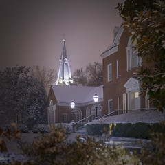 Snowy Night in Annapolis (jtgfoto) Tags: approved annapolis snow snowy nightscape nightlights dta downtownannapolis annearundelcounty maryland naptown sonyimages sonyalpha cityscape zeiss governmenthouse governorsmansion stannes night
