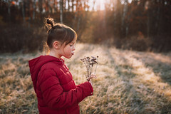 Frost bouquet (Elizabeth Sallee Bauer) Tags: nature active autumn beautyinnature boy child childhood children cold curious exploration exploring fall frost fun girl grass happiness hiking investigating kid meadow morning nonurbanscene november outdoors outside playing portrait youth