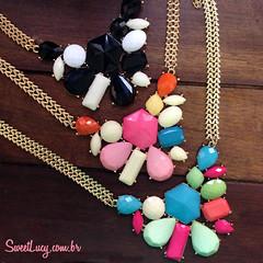 maxi-colar-dourado-comprar-online-loja-sweet-lucy-bijuterias (AMOSWEETLUCY) Tags: bijuterias colar colares maxicolar colaresdamoda