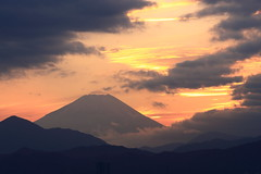 Mt.Fuji at Sunset (seiji2012) Tags: 富士山 国立 夕焼け 日没 シルエット 雲 mtfuji fuji sunset dusk cloud silhouette japan kunitachi happyplanet asiafavorites