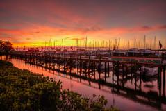 Florida Sunrise (ap0013) Tags: sunrise sun florida palmetto marina harbor boat reflection palmettoflorida floridasunrise hdr riverhouse manateeriver