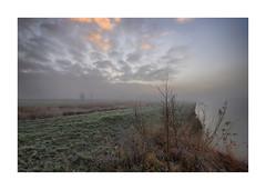 Sunrise Waterdonken Breda (cees van gastel) Tags: ceesvangastel canoneos550d clouds sigma1020mm landscape landschap luchten natuur nature nederland netherlands noordbrabant breda water winter waterdonkenbreda waterakkers wolken sunrise zonsopkomst mist horizon einder