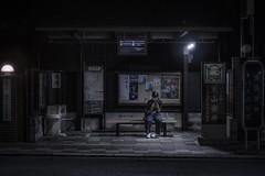Higashioji dori st (karinavera) Tags: city night photography urban ilcea7m2 station street bus kyoto people