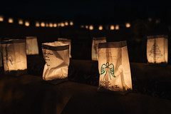 In The Arms Of The Angel (Trent's Pics) Tags: new mexico night photography roman catholic san francisco de asis architecture candle candles christmas church luminarias mission taos