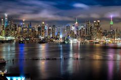 Midtown after the Rain (ADW44) Tags: thebigapple newyork nyc newyorkcity newjersey nycskyline skyline skyscrapers weehawken nj ny buildings sky water hudsonriver sonyalpha sonya7iii
