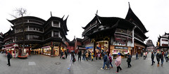 360 Panorama outside of the Old City God Temple (SpirosK photography) Tags: shanghai china κίνα σανγκάη city urban oldcitygod temple holyplace worship