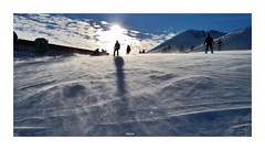 Silhouette (dervis.barutcu) Tags: snow sun people board snowboard ski cloud mountain huawei mate 10 pro