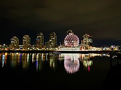 False Creek at night (walneylad) Tags: vancouver britishcolumbia canada downtown yaletown chinatown cbd falsecreek city urban cityscape skyline night dark evening lights water reflections buildings condos towers boats marina january winter scenery view landscape clouds