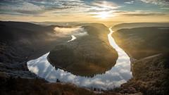 Saarschleife (eins75) Tags: saarland saarschleife germany river fluss bend sunrise sonnenaufgang fog mist nebel winter landscape landschaft view aussicht explore