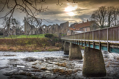 Finchale Priory, Durham (DM Allan) Tags: finchalepriory finchale godric river wear footbridge winter ruin durham countryside