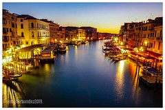 Blue Hour (Mario Hernandez (on and off, mostly off)) Tags: italy befree manfrottobefree manfrotto carlzeiss2470 carlzeiss sonya7 hoiram sunset grandcanal venice longexposure bluehour
