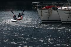 barcamenarsi (FButzi) Tags: genova genoa liguria italy italia kayak training sea boats port light darsena canoa canotaggio