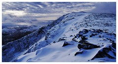 A day on the mountain. (A tramp in the hills) Tags: moelsiabod wales mountain snow