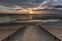 Hoylake sunset (Philip Brookes) Tags: sunset sun coast shore water sand sky cloud estuary deeside hilbreisland island hoylake wirral unitedkingdom england britain evening hilbre