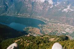 60970022 (sarahhusein) Tags: from above aerial paragliding 35mm film analog italy ponte caffaro village