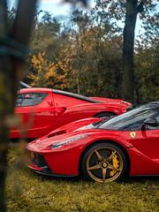 Offroad Parking (Mattia Manzini Photography) Tags: ferrari laferrari enzo supercar supercars cars car carspotting hypercar hybrid automotive automobili auto automobile autodromo monza italy italia red v12 finalimondiali finalimondialiferrari carbon limited