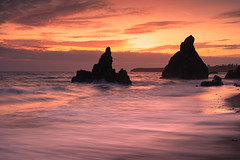 Benvoy sunset (Pat Kelleher) Tags: sunset seascape landscape longexposure slowshutter ireland tranquil peaceful tranquility coppercoast rock sea glow