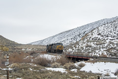 Passing MP 692 (Utah3002) Tags: csxt892 csxt5323 unionpacific up csxt csx trains cwelb911 cwelb9 coaltrain utahtrains railfans utah railroads railways