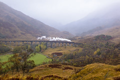 Return Crossing (4486Merlin) Tags: 4515745407 countryside europe exlms highland lms5mtblackfive landscape railways scotland steam theglasgowhighlander transport unitedkingdom glenfinnan gbr jacobite wcrc glenfinnanviaduct viaduct