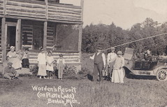 """NW Honor Beulah MI c.1915 RPPC RESORT OWNERS AND GUESTS WORDENS RESORT ON ARBORVITAE West End of Big Plate Lake BIG PLATTE LAKE RESORT DAYS Benzie Natives The Worden Family & Guests2 (UpNorth Memories - Donald (Don) Harrison) Tags: vintage antique postcard rppc """"don harrison"""" """"upnorth memories"""" upnorth memories upnorthmemories michigan history heritage travel tourism restaurants cafes motels hotels """"tourist stops"""" """"travel trailer parks"""" cottages cabins """"roadside"""" """"natural wonders"""" attractions usa puremichigan """" """"car ferry"""" railroad ferry excursion boats ships bridge logging lumber michpics uscg uslss"""