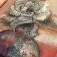 Abstract magnolia by Jan Paron, 2019: acrylic, gesso, charcoal #abstractflower#magnolia #petelsandportrait #journal (drjparon) Tags: abstractflower magnolia petelsandportrait journal