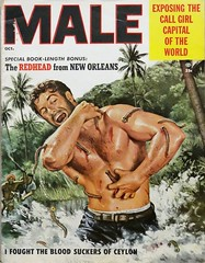 Male Vol. 5, No. 10 (October 1955). Cover Art by Mort Kunstler (lhboudreau) Tags: pulp pulparr magazineart magazinecover pulpcover pulpadventuremag magazine magazines mensadventuremagazine mensadventuremagazines adventuremagazine adventuremagazines pulpmagazine pulpmagazines mensmagazine mensmagazines action adventure actionmagazines actionmagazine malemagazine october1955 illustration art painting artwork coverart volume5number10 kuenstler mortkuenstler leech leeches bloodsucker bloodsuckers ceylon man muscular redheadfromneworleans callgirlcapital water outdoor outdoors jungle tree trees 1955 palm palms vintagemagazine coverofamagazine blood barechest barechested scream male sucker suckers leechattack ifoughtthebloodsuckersofceylon callgirlcapitaloftheworld formen