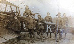 AUSTRALIAN FLYING CORPS - No 3 squadron - with their RE8 (Aussie~mobs) Tags: re8 aeroplane airplane ww1 australianflyingcorps war afc pilots airforce australia
