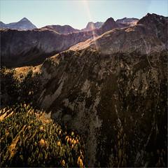 Just autumnal mountains in the sun (janos radler) Tags: albulatal autumn switzerland graubünden