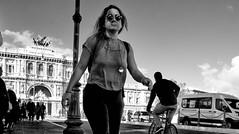 Walk of life. (Baz 120) Tags: candid candidstreet candidportrait city street streetphotography streetphoto streetcandid streetportrait strangers rome roma europe women monochrome monotone mono noiretblanc bw blackandwhite urban life portrait people italy italia grittystreetphotography flashstreetphotography faces decisivemoment