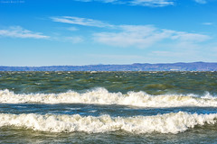 Bolsena Lake, Central Italy - Very Windy Day (Claudio_R_1973) Tags: lake lago bolsenalake lazio centralitaly nature windy wind waves landscape water weather stormy gale force horizon sky hills countryside d800 fx italia italy viterbese tuscia