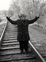 Miss Paradox Confused (PhotoJester40) Tags: outdoors outside missparadox famale gargoyle animal human bnw blacknwhite blackwhite amdphotographer