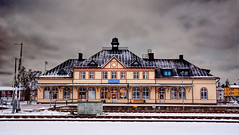 Train station Hultsfred (simson60) Tags: schweden urlaub hdr bahnhof winter architektur gebäude