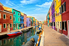 1218 Burano, Venice, Italy. (Jomoboy Photography) Tags: 2018 5d3 canon dannyreardon europe italy jomoboyphotography photography travel fisherman houses colorful colourful hdr murano burano venice village canal