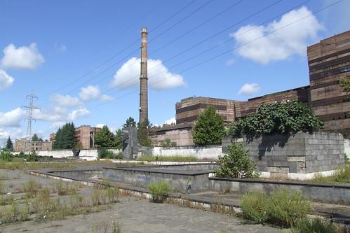 Abandoned square near Zestafoni Ferroalloy Plant, 10.09.2013.