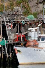The Trap Fisherman (peterkelly) Tags: digital canon 6d northamerica canada newfoundlandlabrador stjohns quidividi boat lobstertrap dock ship fishing ladder net floats harbor harbour
