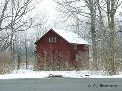 Cabin In The Woods (Picsnapper1212) Tags: cabin woods snow winter red white abandoned uninhabited scene rural waynetownship warrencounty ohio