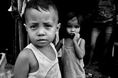 Brother And Sister - Baseco, Manila, Philippines (LA Street Moments) Tags: philippines manila asia streetasia asiastreet monochrom leica leicaq bnw bw poverty children