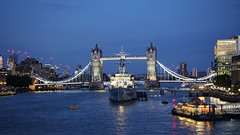 HMS Belfast & Tower Bridge, London [1546] (my.travels) Tags: london belfast battleship ship night nightphotography tower bridge thames river olympus penf england greatbritain travel unitedkingdom gb