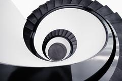 Spiral staircase. (Matthias Dengler || www.snapshopped.com) Tags: matthias dengler snapshopped architecture art archi architectural architektur germany minimal minimalism minimalistic minimalist urban stairs staircase