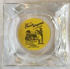 ED'S 3 CHUCK WAGON'S SAN FRANCISCO & BELMONT CALIF (ussiwojima) Tags: edschuckwagon restaurant sanfrancisco belmont california glass advertising ashtray