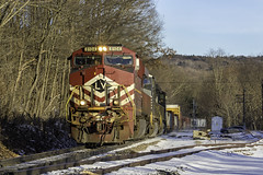 Valley Girl at Richmondville (Thomas Coulombe) Tags: norfolksouthern ns lehighvalley lv delawarehudson dh 11r gees44ac es44ac freighttrain train richmondville newyork