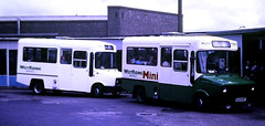 Slide 125-44 (Steve Guess) Tags: wakefield west yorkshire england gb uk bus station westriding freight rover sherpa minibus