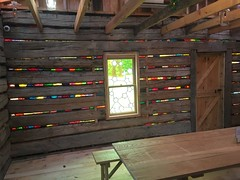 Philbrook Cabin (alnbbates) Tags: november2018philbrook cabin slumgullion art artinstallation architecture november2018 philbrookmuseum philbrookgardens thevenerateoutpost karlunnasuch
