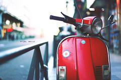 Vespa, Madrid (N.D.K.K.) Tags: viejo vintage vespa madrid movie markii moto light luz lomo low film filter format fotos full frame focus f14 5d 50mm 5dmarkii 50 ef50mmf14usm street strada strase spain strange size sun raw retrato retro red rojo old photography photo photoshop portrait public bokeh barrio