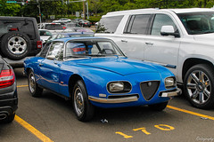 1968 Alfa Romeo 2600SZ Zagato (Rivitography) Tags: alfaromeo zagato 2600sz blue italian rare classic antique car vintage old greenwich connecticut 2018 canon rebel t3 adobe lightroom rivitography