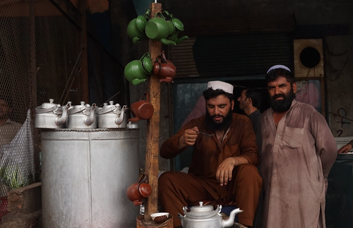 Tea sellers, Jamrud, Khyber Agency, Pakistan's tribal areas.