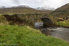 Butter bridge (rjonsen) Tags: bridge kinglas water river burn snow mountain munro scotland alba tripod long exposure